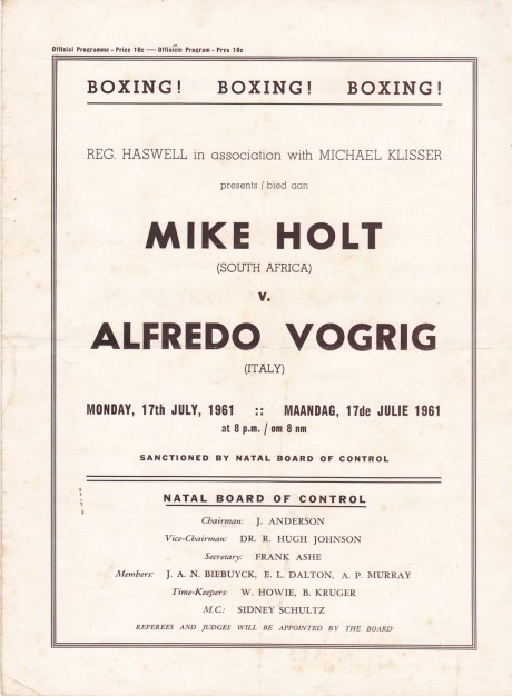 MIKE HOLT VS ALFREDO VOGRIG PROGRAM
