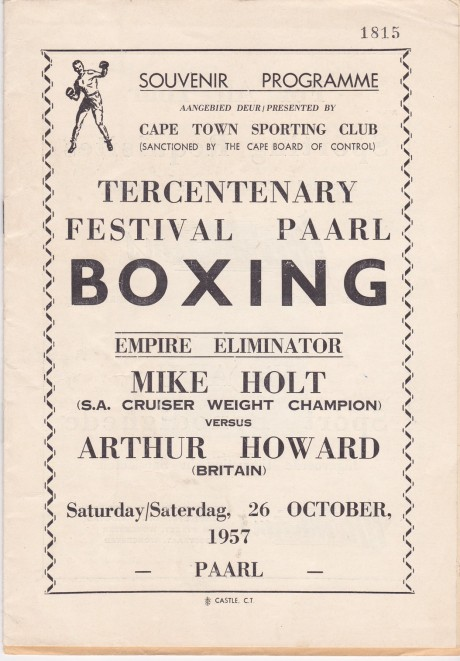 MIKE HOLT VS ARTHUR HOWARD PROGRAM