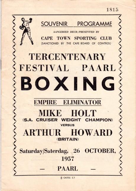MIKE HOLT VS ARTHUR HOWARD PROGRAM