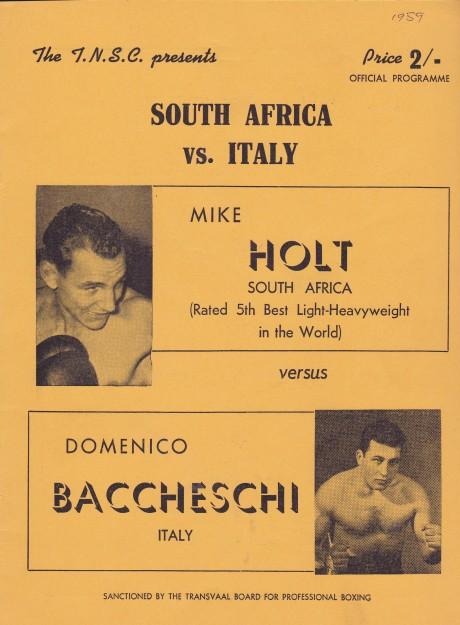MIKE HOLT VS DOMENICO BACCHESCHI PROGRAM