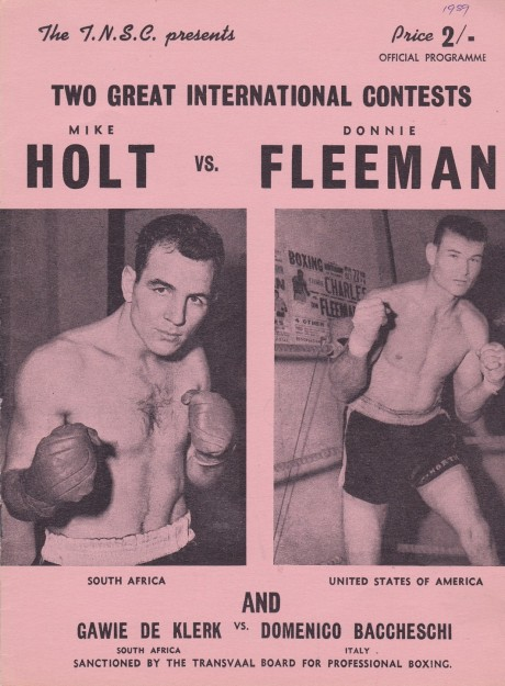 MIKE HOLT VS DONNIE FLEEMAN PROGRAM