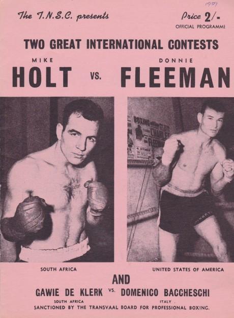 MIKE HOLT VS DONNIE FLEEMAN PROGRAM