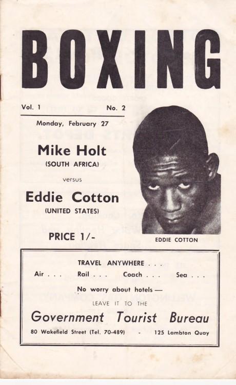 MIKE HOLT VS EDDIE COTTON PROGRAM
