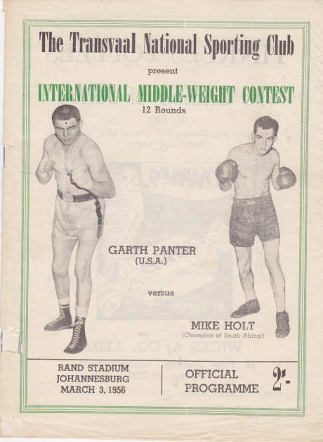 MIKE HOLT VS GARTH PANTER PROGRAM
