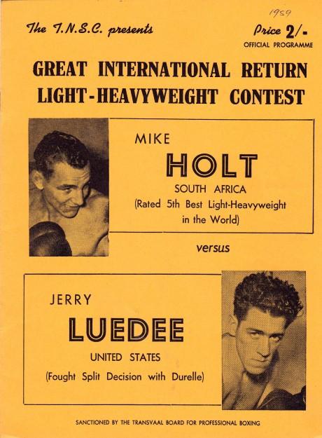 MIKE HOLT VS JERRY LUEDEE PROGRAM