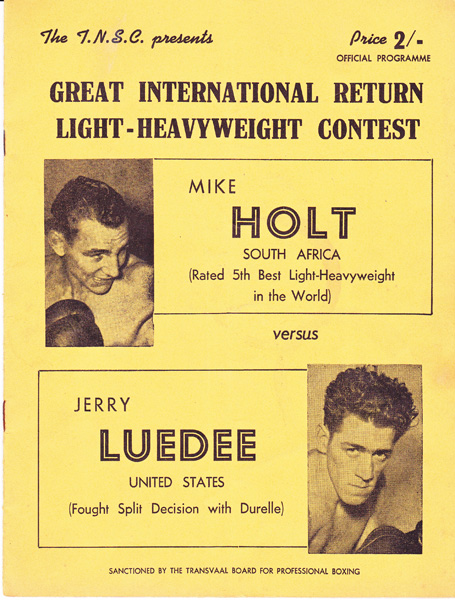 MIKE HOLT VS JERRY LUEDEE
