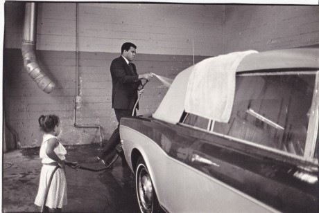 MUHAMMAD ALI CLEANING HIS CAR WIRE PHOTO