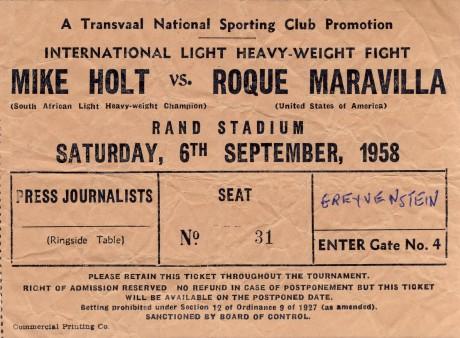 Mike Holt vs Roque Maravilla 1958