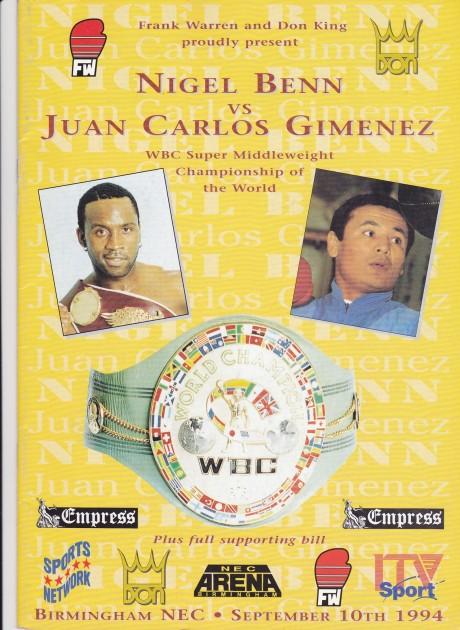 NIGEL BENN VS JUAN CARLOS GIMENEZ