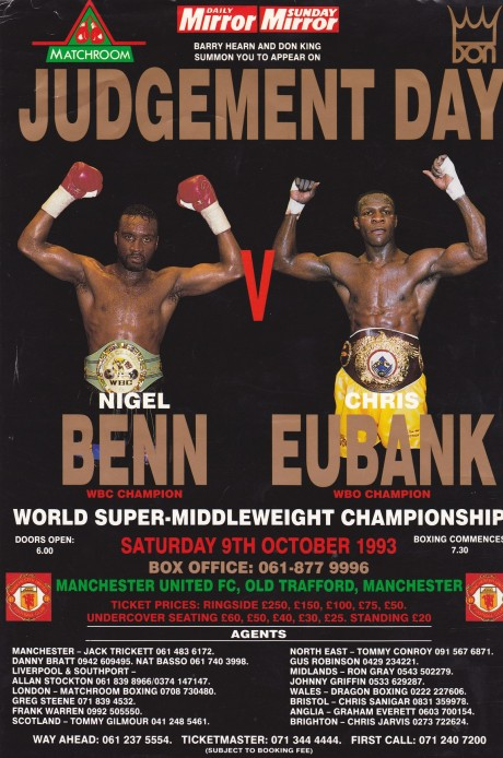 Nigel Benn vs Chris Eubank flyer