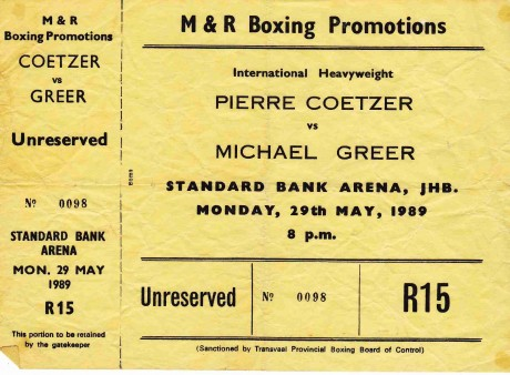 PIERRE COETZER VS MICHAEL GREER
