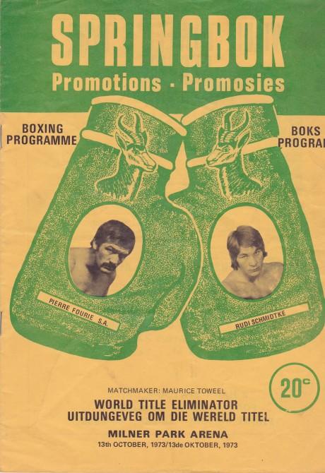 PIERRE FOURIE V RUDI SCHMIDTKE 1973