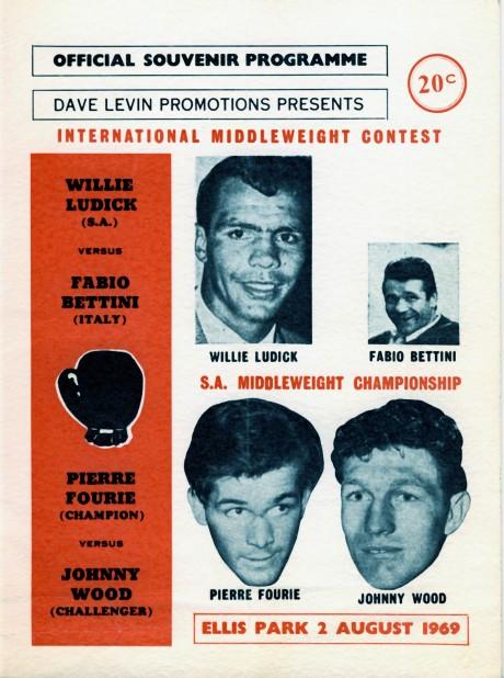 Pierre Fourie vs Johnny Wood + Willie Ludick vs Fabio Bettini 1969