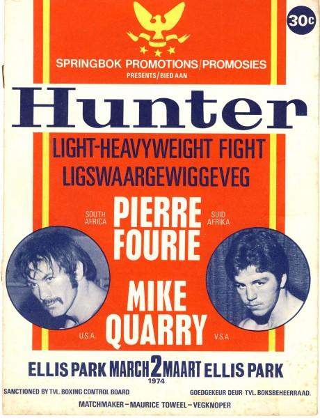Pierre Fourie vs Mike Quarry 1974