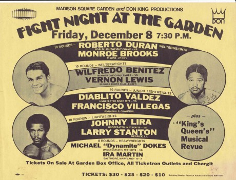 ROBERTO DURAN VS MONROE BROOKS AND WILFREDO BENITEZ