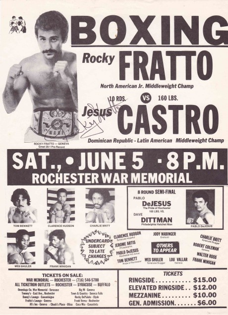 Rocky Fratto (signed) vs Jesus Castro