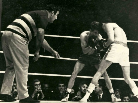 Rocky Marciano refs fight Arnie Taylor vs Robert Trott