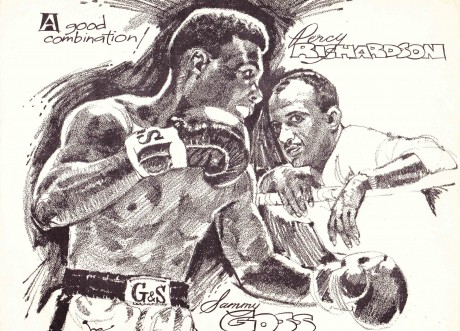 SAMMY GOSS AND PERCY RICHARDSON SKETCH