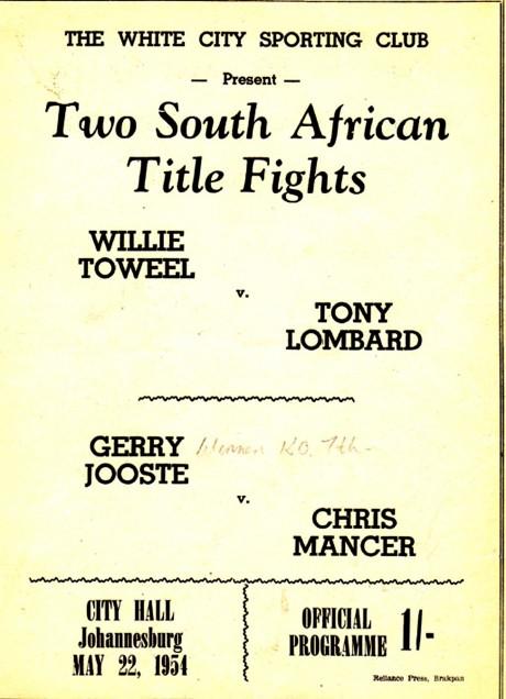 TOWEEL WILLIE VS TONY LOMBARD small