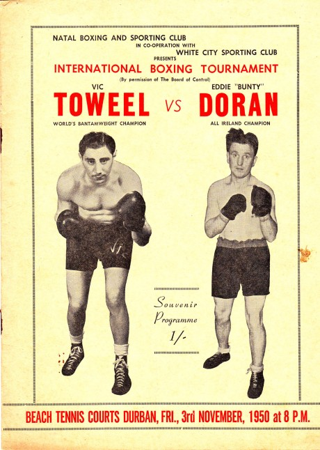 VIC TOWEEL VS EDDY DORAN PROGRAM