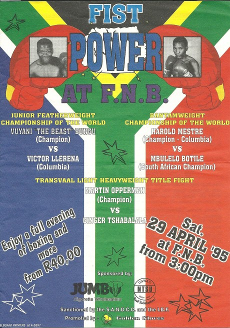 Vuyani Bungu vs Victor Lerena 1995