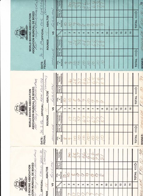 WBA SCORE CARD HAGLER VS ROLDAN