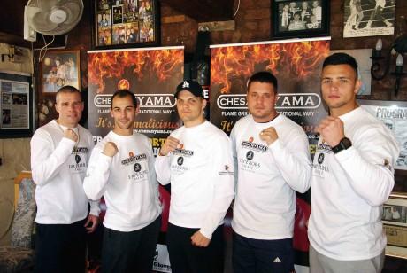 Warren, Grant, Dowayne, Deon and Kevin Lerena