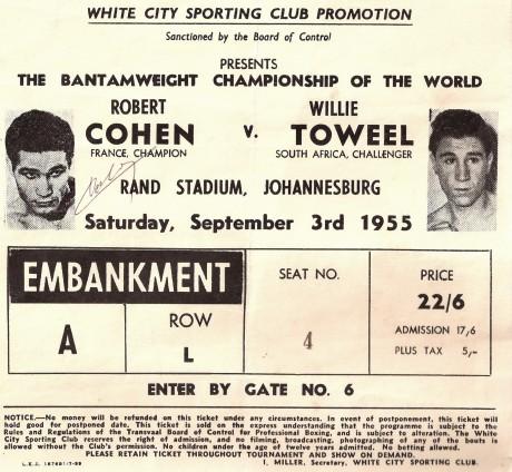 Willie Toweel vs Robert Cohen