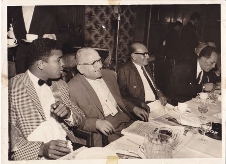 ali with jack solomons and bud flanagan