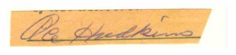 Ace Hudkins 1922-1932 cut signature - African Ring