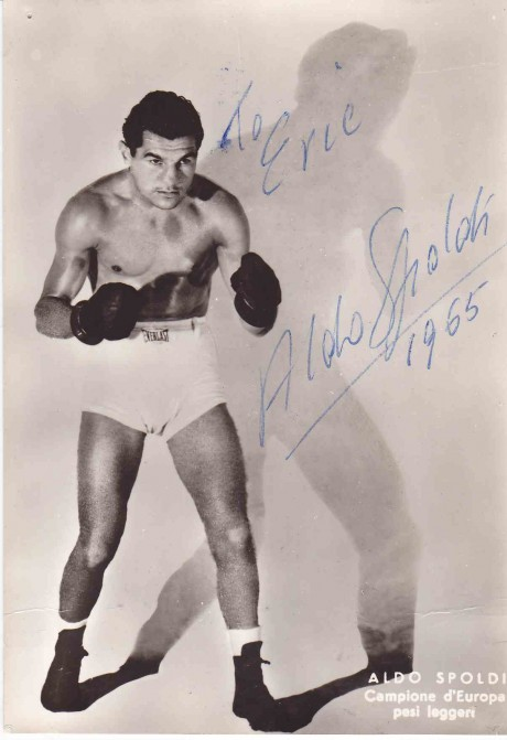 Aldo Spaldo European Champion 139 fights innscribed post card