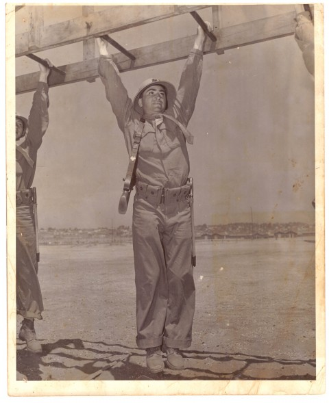 Barney Ross in Marine Camp 1940 - African Ring