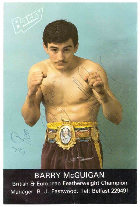Barry McGuigan signed to Eric