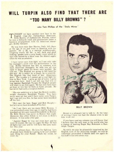 Billy Brown 1940-1953