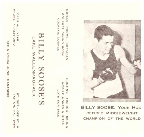 Billy Soose business card
