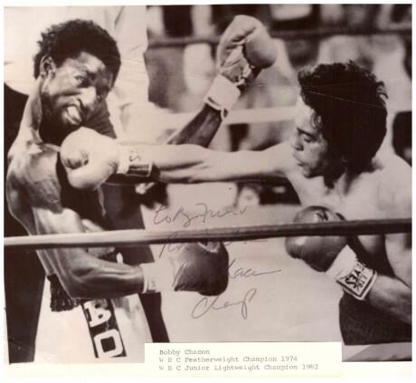 Bobby Chacon inscribe to Ron Jackson