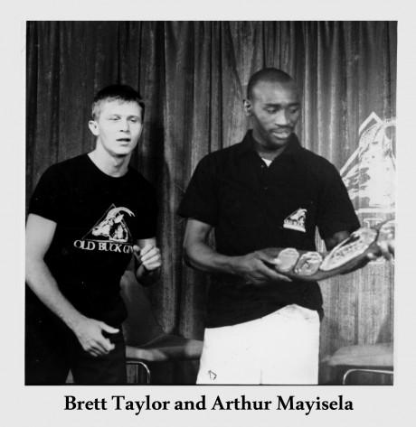 Brett Taylor and Arthur Mayisela