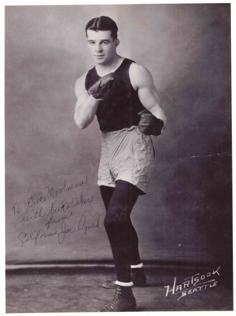 California Joe Lynch autograph boxed 1920-1932