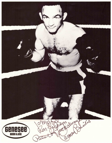Carmen Basilio inscribed to Ron Jackson