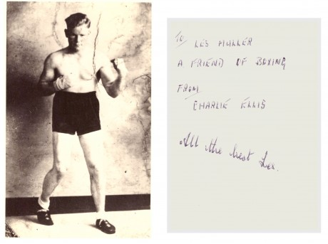 Charlie Ellis 193–1951 signed on back