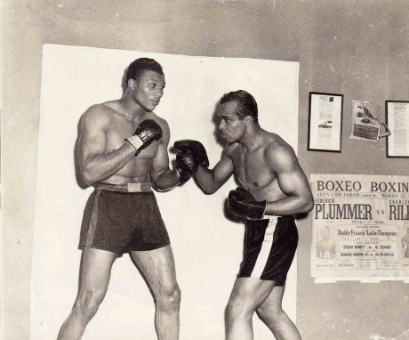 Cleveland Williams sparring Bob Sattefiels