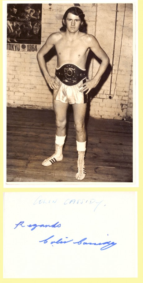 Colin Cassidy Australian Champ 1973 signed on back