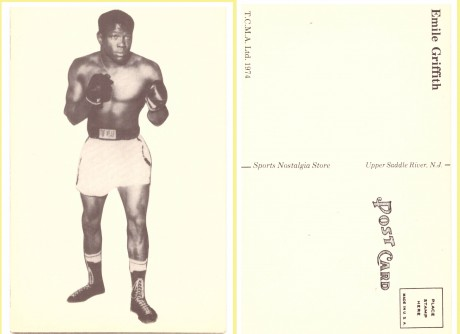 Emile Griffith post card