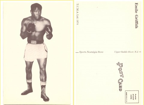Emile Griffith post card - African Ring