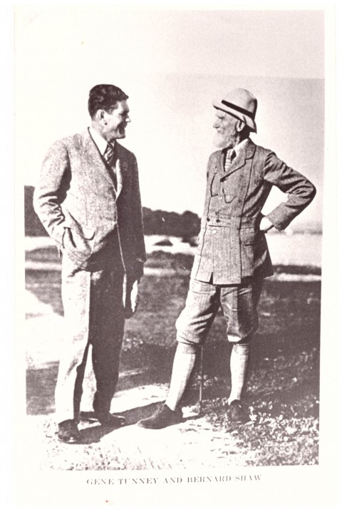 Gene Tunney and Bernard Shaw - African Ring