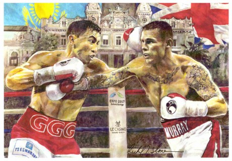 Gennady Golovkin vs Martin Murray post card