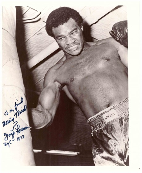 George Foreman autographed to Maurice Toweel