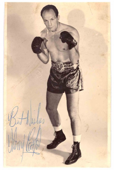 Henry Cooper autograph. Cooper fought Muhammad Ali twice