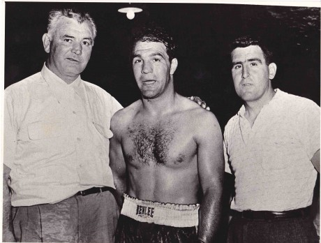 JAMES BRADDOCK ROCKY MARCIANO AND ALLIE COLOMBO