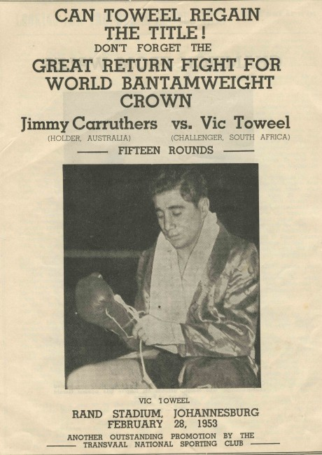 Jimmy Carruthers vs Vic Toweel rematch